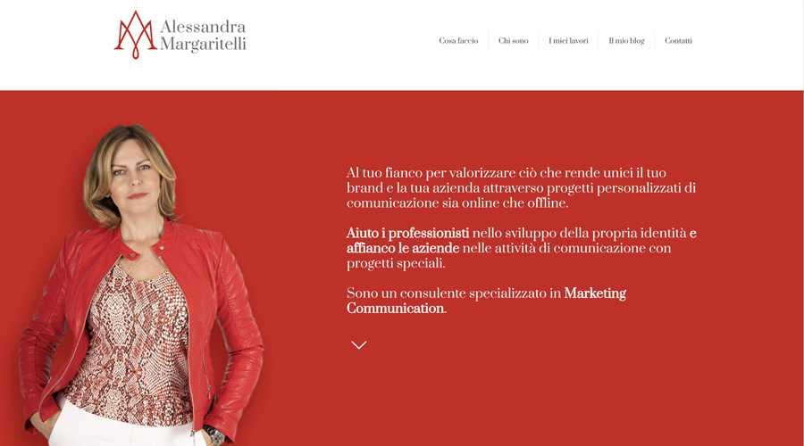 immagine descrittiva del sito internet web realizzato da media tools roma per alessandra margaritelli