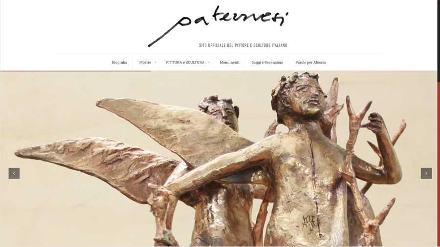 immagine descrittiva del sito internet web realizzato da media tools roma per alessio paternesi