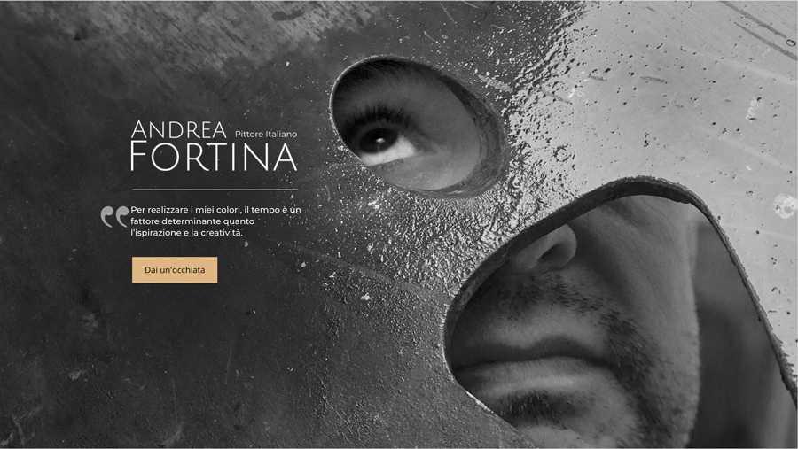 immagine descrittiva del sito internet web realizzato da media tools roma per andrea fortina