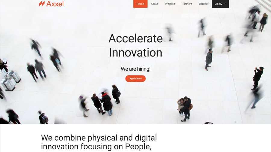 immagine descrittiva del sito internet web realizzato da media tools roma per axxel