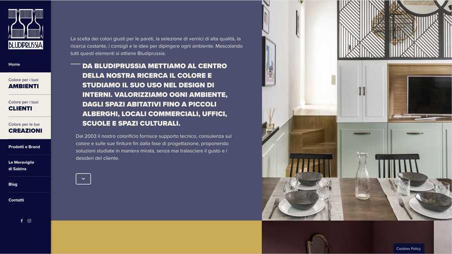 immagine descrittiva del sito internet web realizzato da media tools roma per bludiprussia
