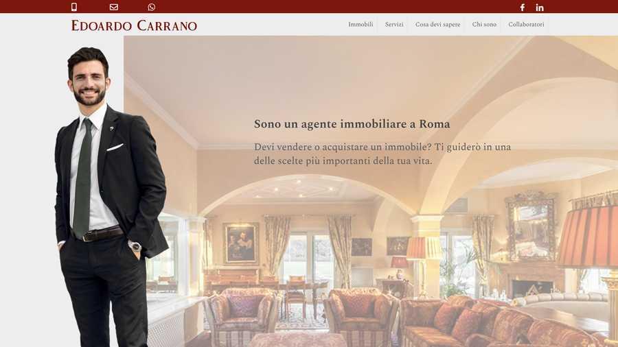 immagine descrittiva del sito internet web realizzato da media tools roma per edoardo carrano real estate