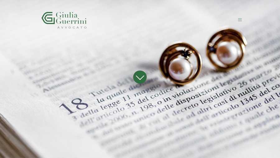immagine descrittiva del sito internet web realizzato da media tools roma per giulia guerrini avvocato