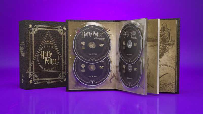 immagine del cofanetto packaging in pelle harry potter magical collection realizzato per wanrer bros.