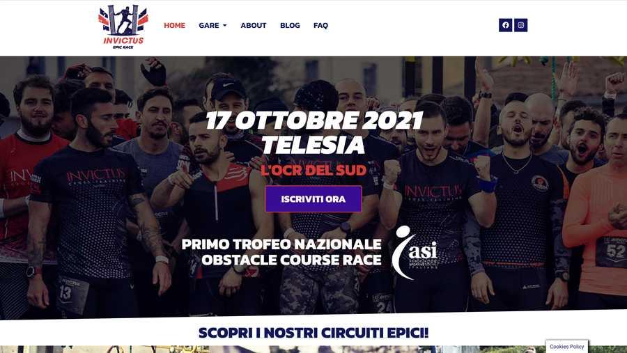 immagine descrittiva del sito internet web realizzato da media tools roma per Invictus epic race