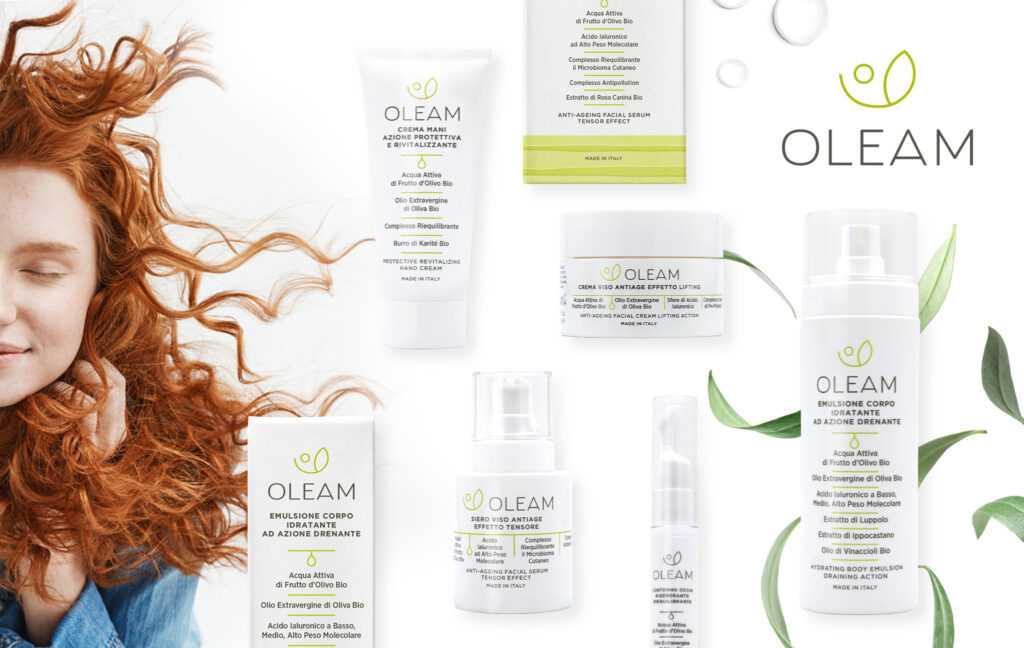 immagine principale del progetto Oleam che mostra il packaging del prodotto di bellezza