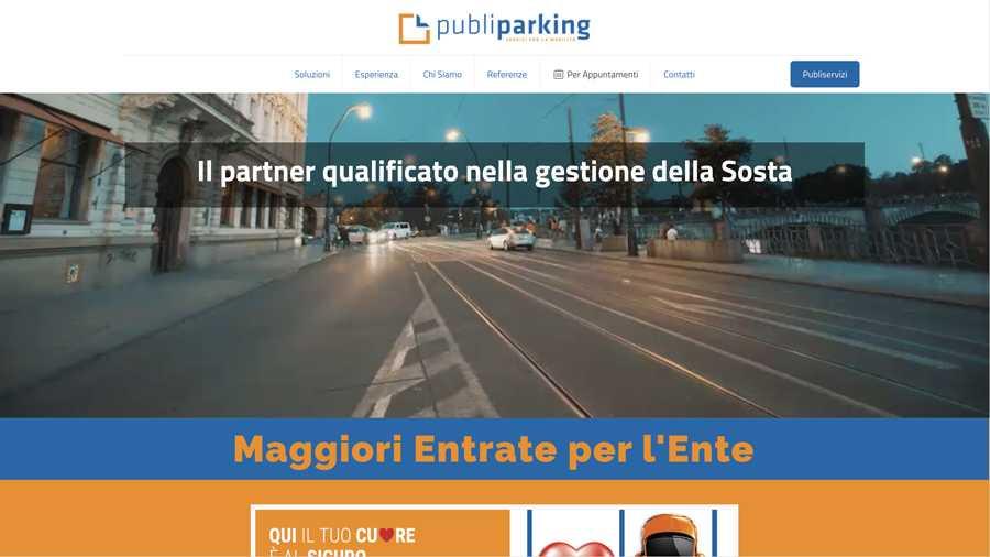 immagine descrittiva del sito internet web realizzato da media tools roma per publiservizi