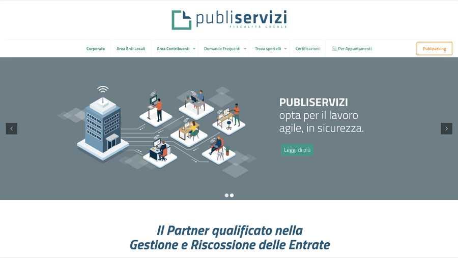 immagine descrittiva del sito internet web realizzato da media tools roma per publiparking