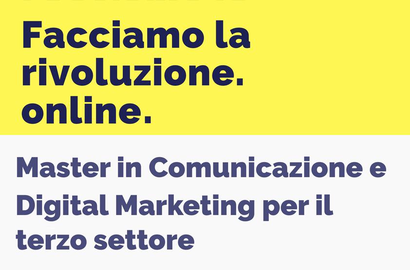 immagine rappresentativa del titolo della sezione facciamo la RivoluzioneOnline, master in comunicazione e digital marketing per il terzo settore
