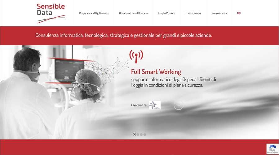 immagine descrittiva del sito internet web realizzato da media tools roma per sensible data