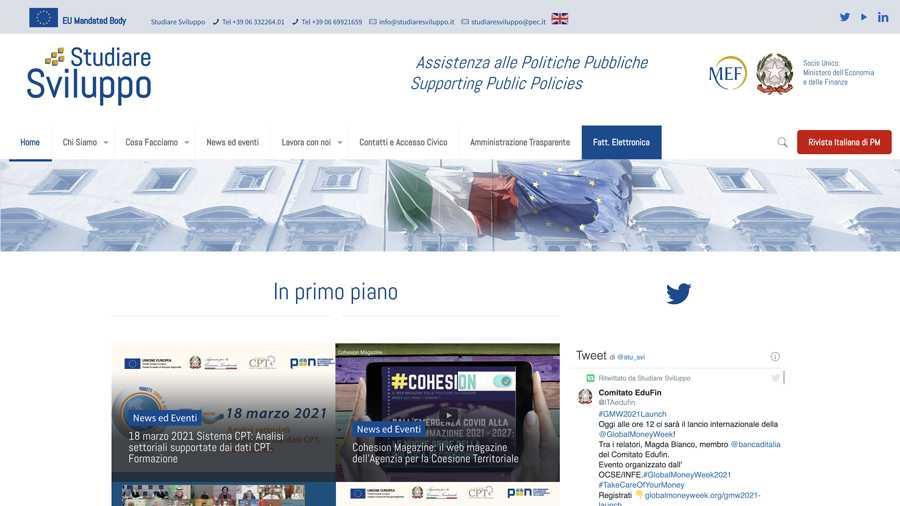 immagine descrittiva del sito internet web realizzato da media tools roma per studiare sviluppo